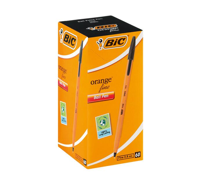 BIC Orange Ballpoint Pen Black 60-Pack Black