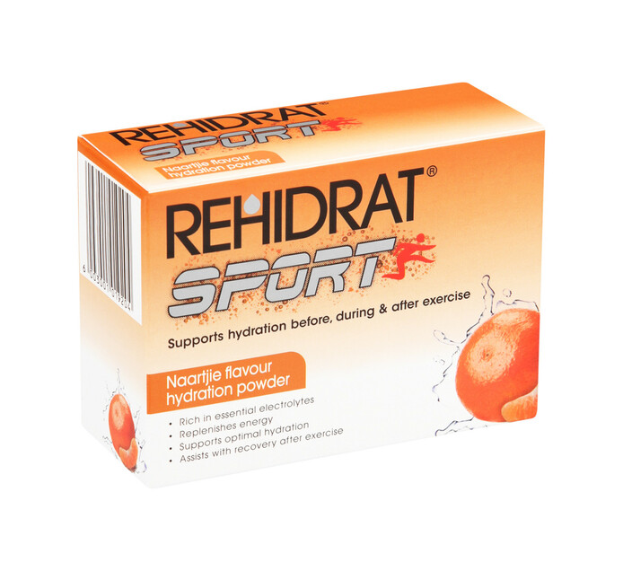 Rehidrat Hydration Powder Sports Naartjie (36 x 6's)