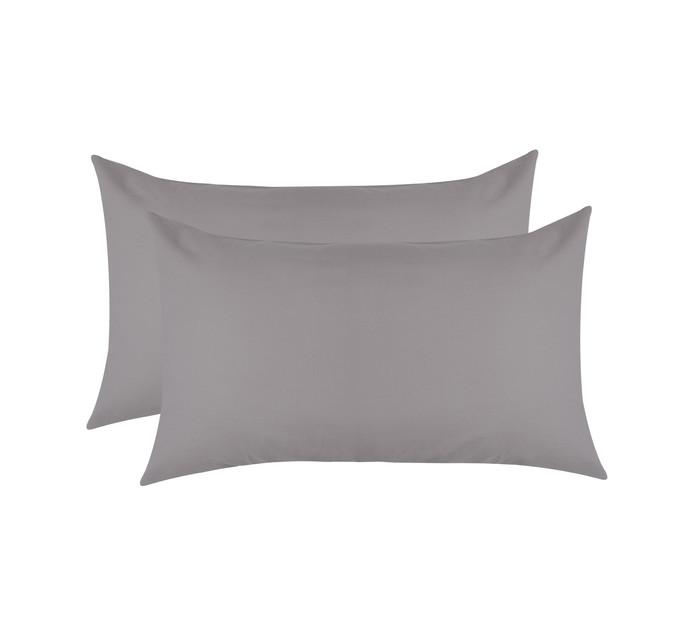 Sheraton Cotton Percale Pillowcase 2-Pack Steel grey