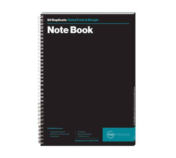 RBE: A4 Numbered Book Spiral Bound Note Book (Pack of 3)