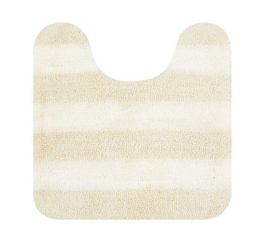 Home Living 55 x 55 cm Luxor Reversible Pedestal Mat Cream