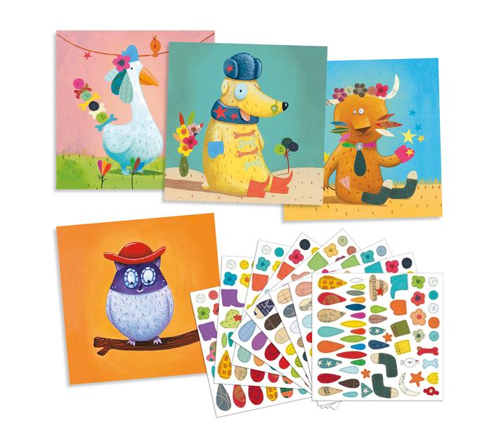 Djeco Stickers to Create- Animals