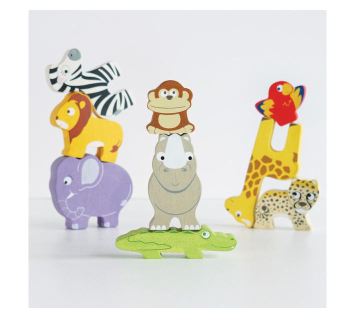 Le Toy Van Petilou: Africa Animal Stacker & Bag