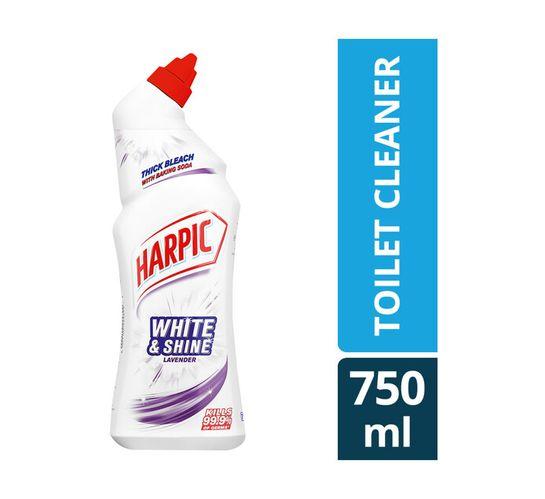 Harpic White And Shine Toilet Cleaner Lavender (1 x 750ml)