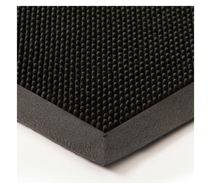 Rubber Fingertip Mat 1500x900 Black 11mm