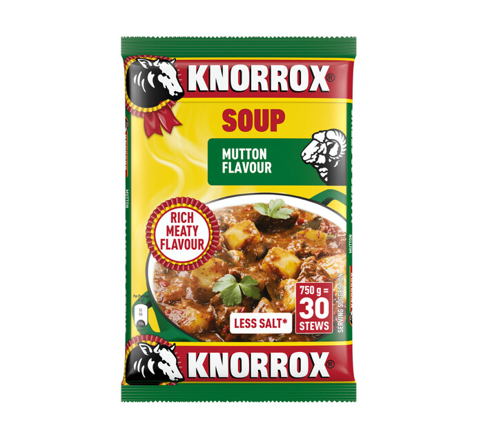Knorrox Dehyrated Soup Mutton (5 x 750g)