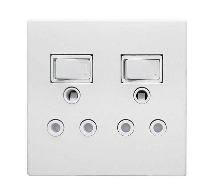 Selectrix 4 x 4 Double Socket