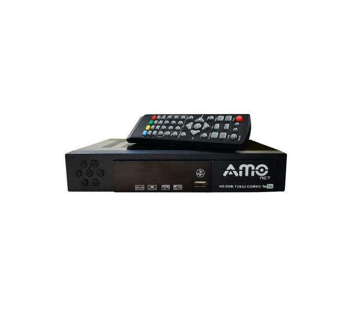 AMO Combo Digital TV Decoder DVB T2 + S2