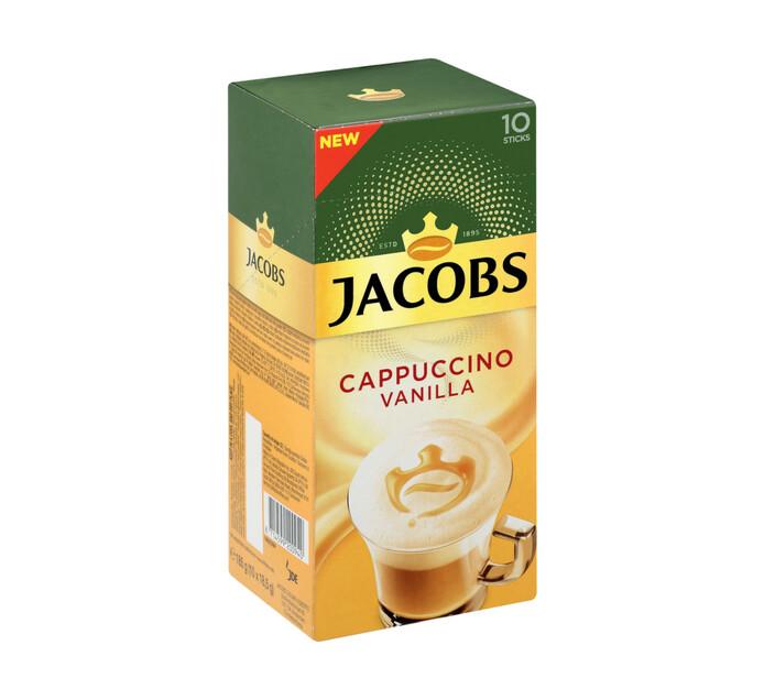 Jacobs Kronung Coffee Sticks Cappuccino Vanilla (10 x 18.6g)