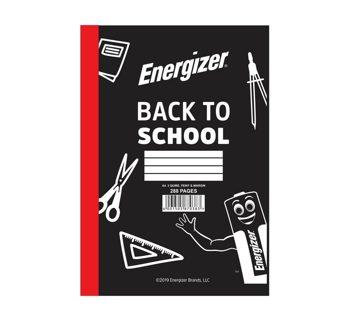 Energizer A4 3-Quire Counter Book Feint & Margin 288-Page