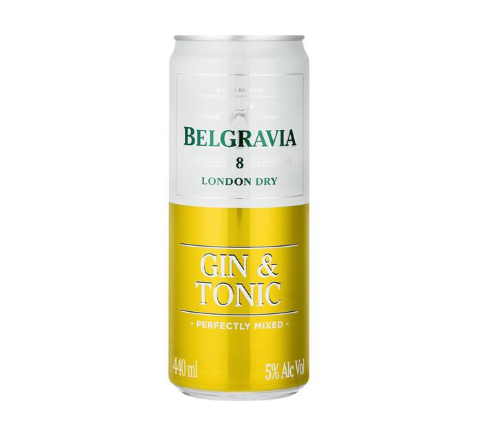 Belgravia Gin and Tonic (24 x 440ml)