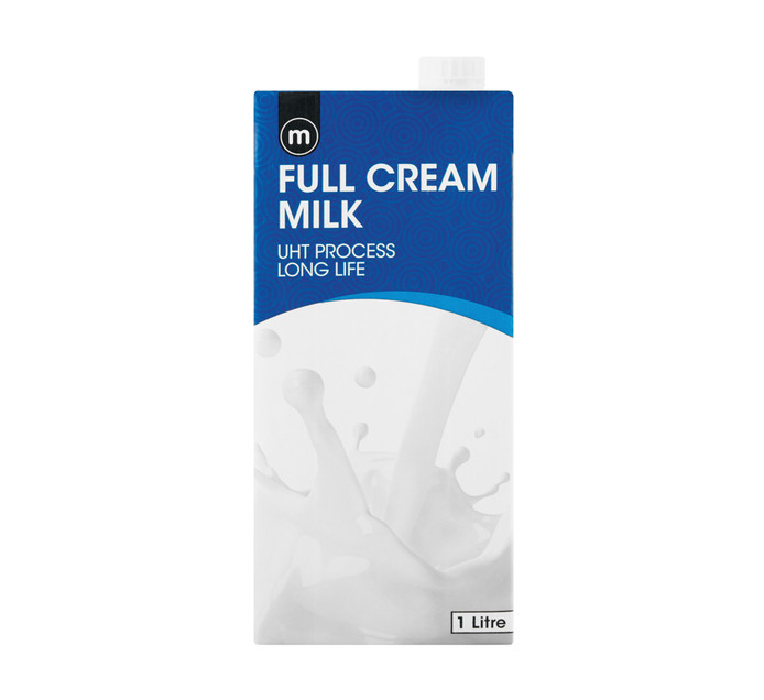 M Long Life Milk Full Cream (6 x 1l)