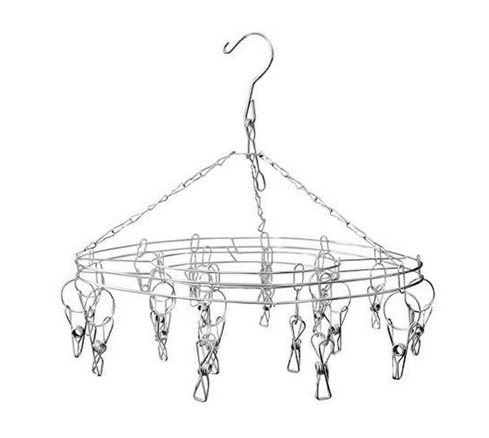 Stainless Steel Round 20 pegs Laundry Hanger