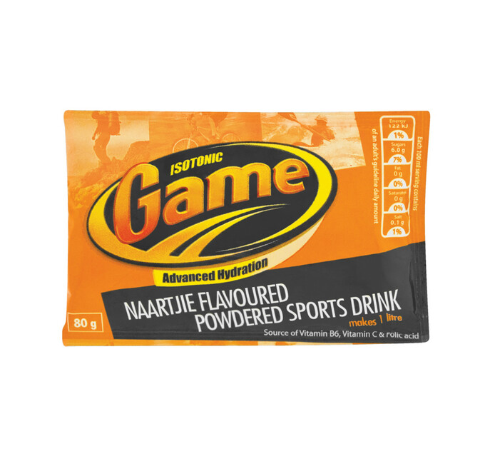 Game Sport Drink Power Sachet Naartjie (24 x 80g)