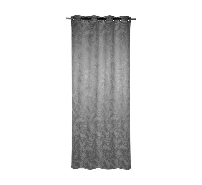 Design Collection 135 x 225 cm Fern Eyelet Curtain Grey