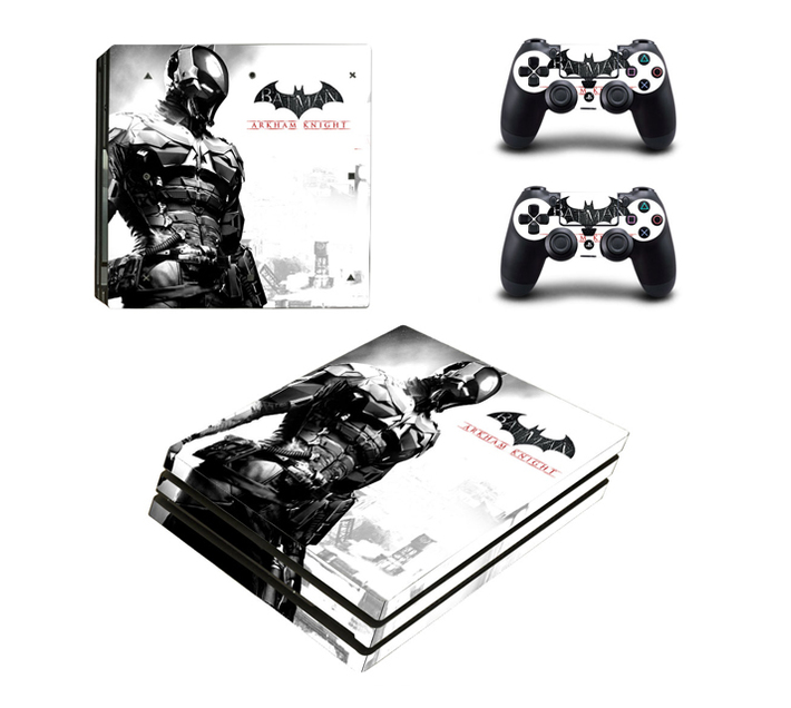 SKIN-NIT Decal Skin For PS4 Pro: Batman Arkham Knight White