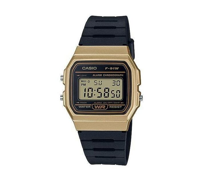 Casio Black/Gold Silicone Strap Watch