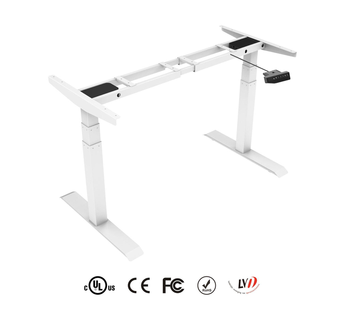 TekDesk 2.0 - Height Adjustable Electronic Standing Desk - Natural Birch