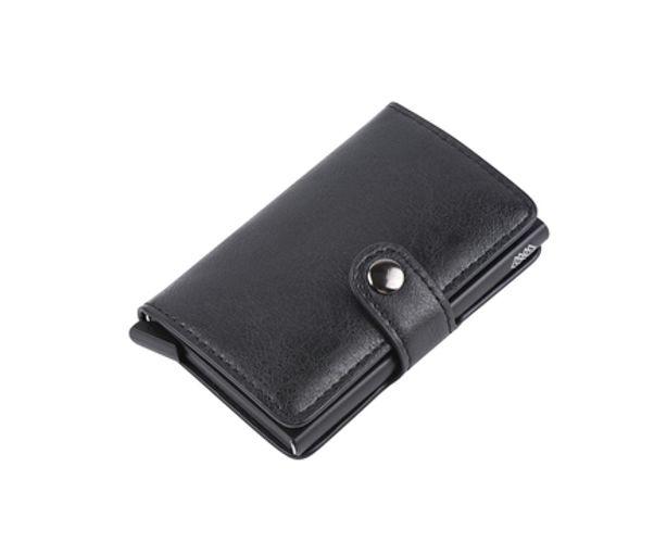 WEAV Genuine Leather RFID Pop Up Credit Card Holder and Wallet