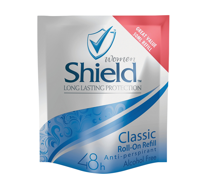 Shield Roll On Refill Sachets Classic (6 x  50ml)