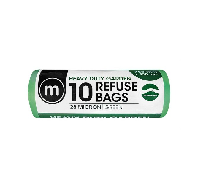 M GREEN REFUSE BAGS 10'S