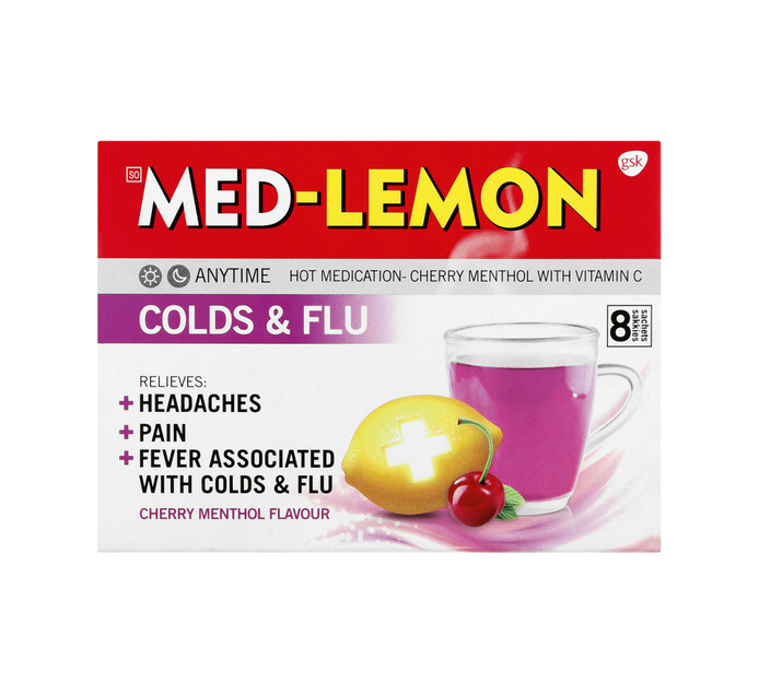 Med Lemon Cold & Flu Cherry (1 x 8's)