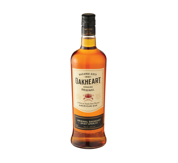 Bacardi Oakheart Rum (1 x 750ml)
