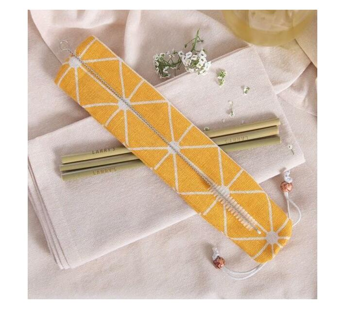 Bamboo Straws - Set of 4 With Cleaning Brush
