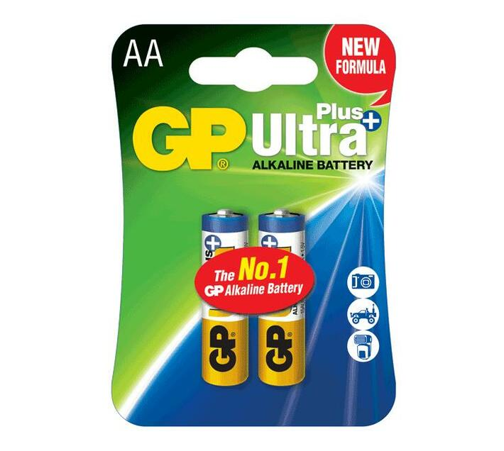 GP Ultra Plus Alkaline AA Card of 2