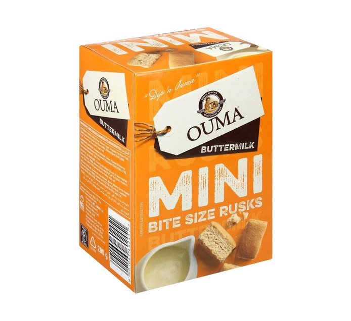 Ouma Mini Bite Size Rusks Buttermilk (1 x 200g)