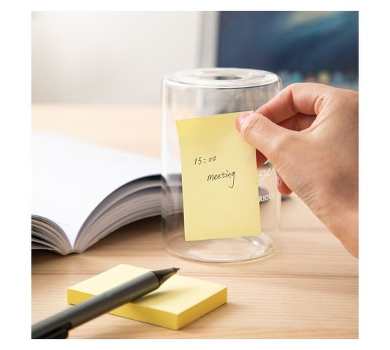 Deli Stationery Sticky Notes 76×51Mm 3``×2`` 100 Sheets Yellow
