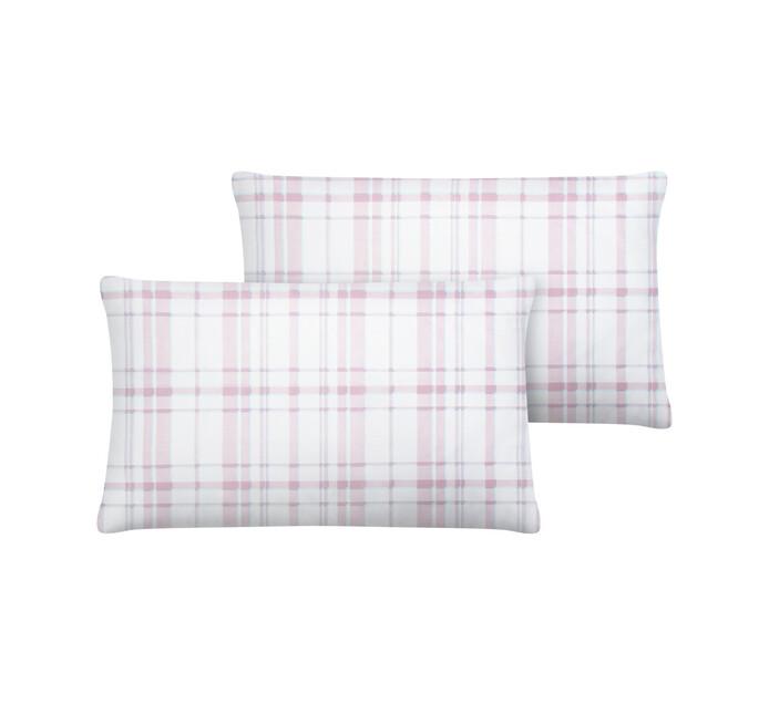 Primaries Standard Pillowcases 2-Pack Tartan pink
