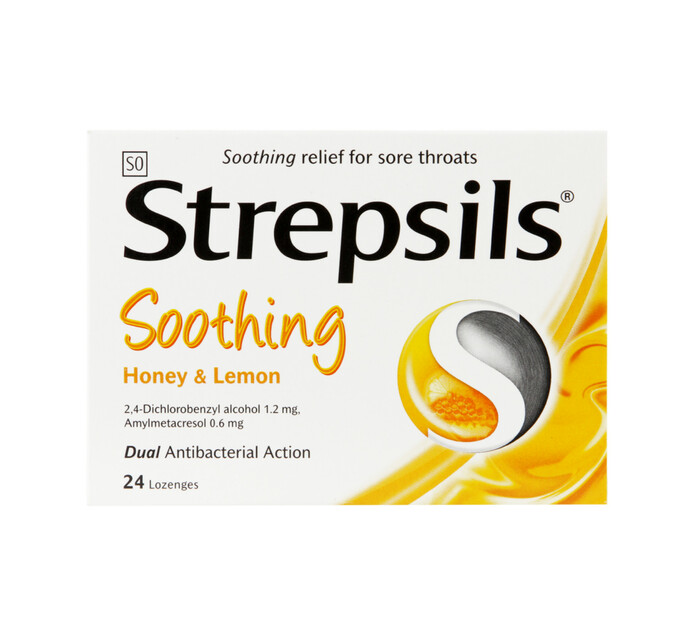 Strepsils Lozenges Honey & Lemon (12 x 24's)