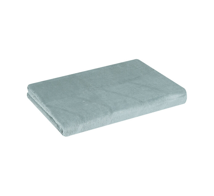 Home Living 150 x 200 cm Lattice Embossed Flannel Throw Slate
