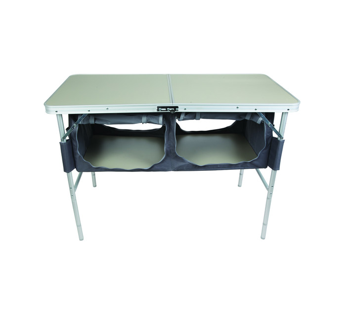 Campmaster Aluminium Folding Table with 2 Cupboards