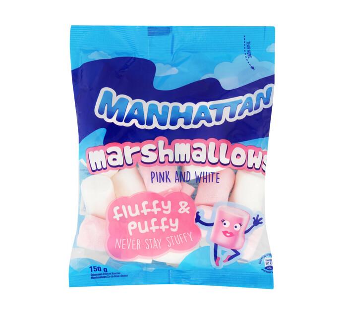 MANHATTAN M/MALLOWS 150G, PINK&WHITE