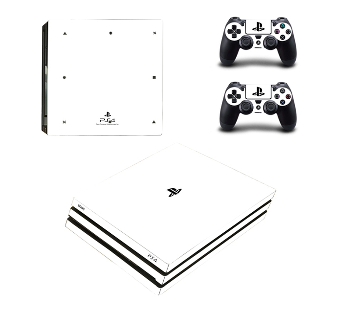 SKIN-NIT Decal Skin For PS4 Pro: White