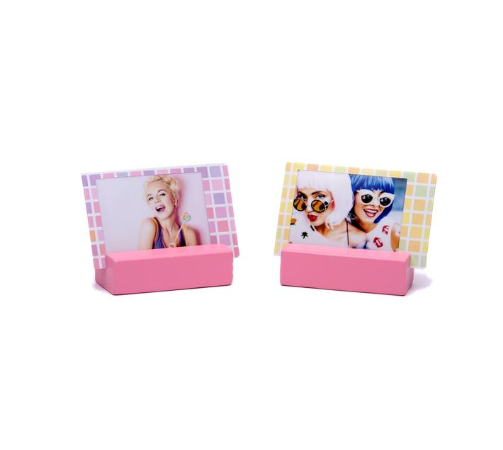 Instax Wooden Picture Stand Flamingo Pink 2 stands