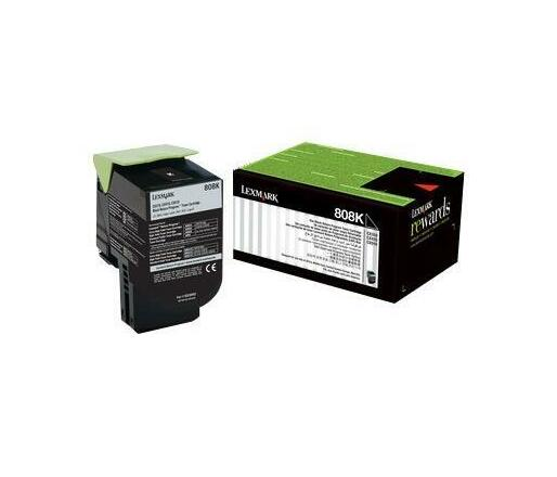 Lexmark 808K - black - original - toner cartridge - LCCP, LRP