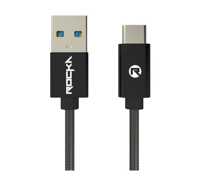 Rocka 1.5M Blitz USB Type C Cable Black