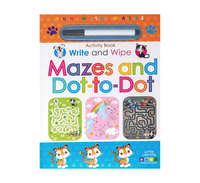 Write and Wipe Mazes and Dot-to-Dot