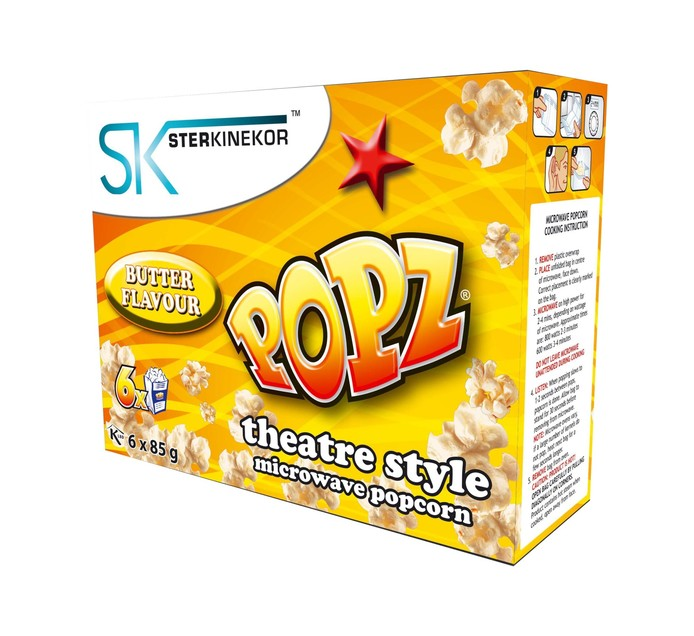 Sterkinekor Microwave Popcorn Butter (1 x 6's)