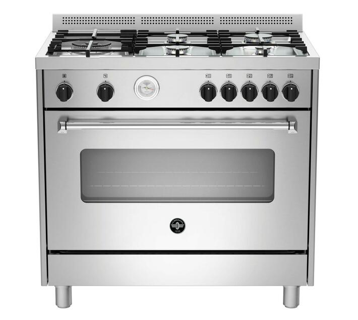 LA GERMANIA 90cm Americana Freestanding Stove 5 Gas Burners with Gas Oven Stainless Steel AMS95C81BX