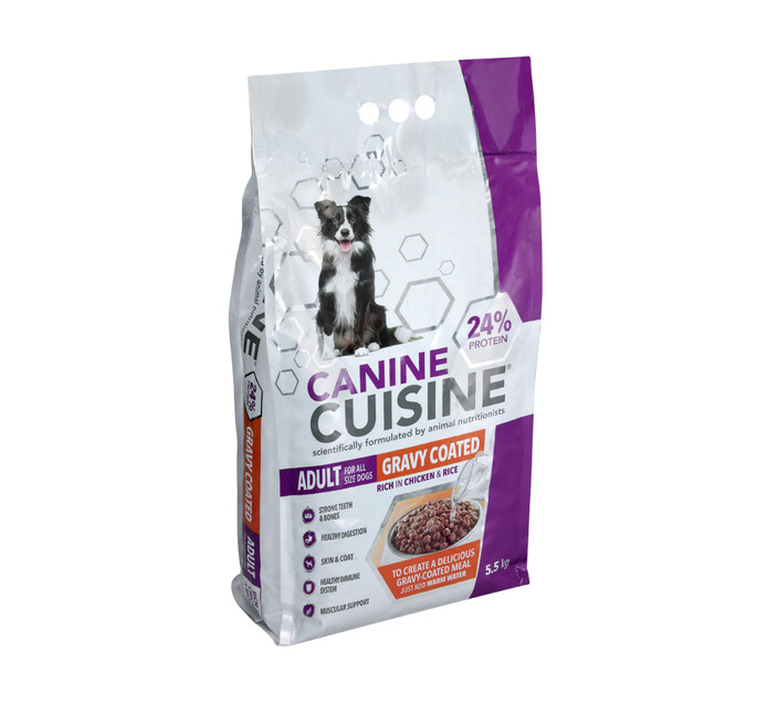 Canine Cuisine Adult Gravy Coated Dry Dog Food (1 x 5.5 kg)