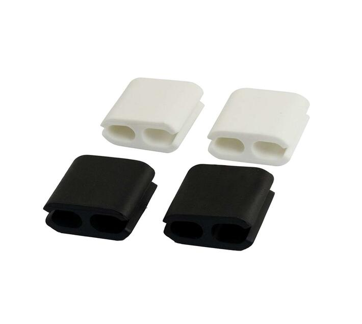 Volkano Bind Series 4-piece Adhesive Power Cable Clips in Black and White