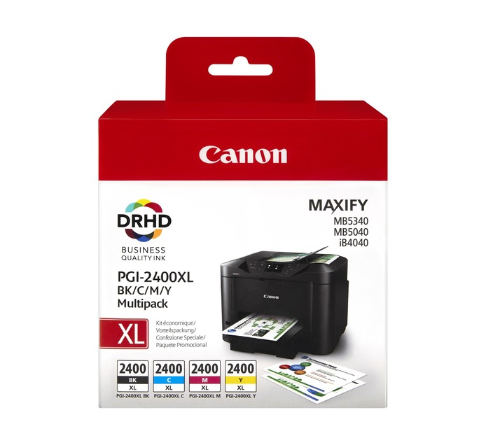 Canon PGI-2400XL Ink Cartridges 4-Pack