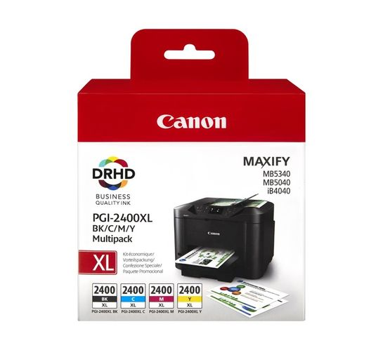 Canon PGI-2400XL Ink Cartridges 4-Pack