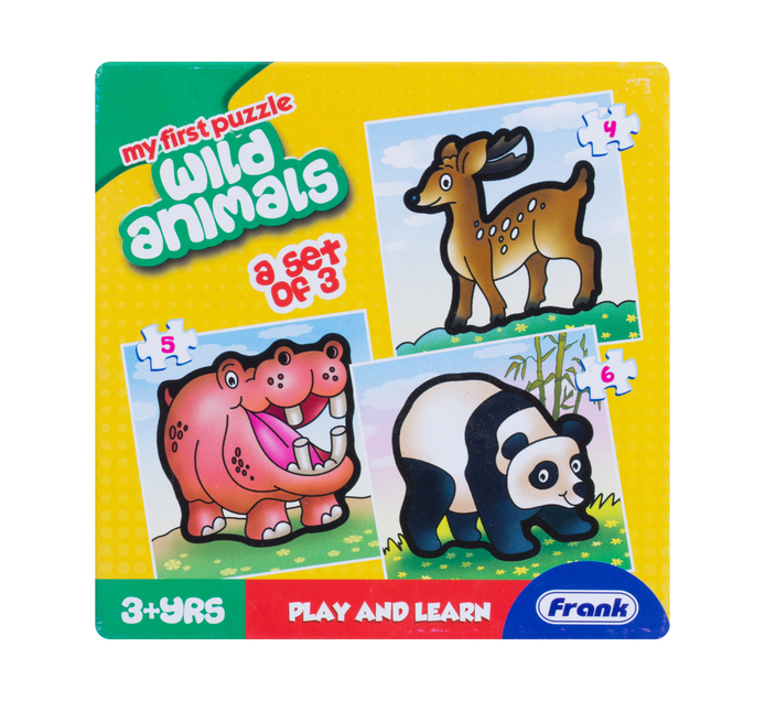 Kiddies First Puzzles 3-in-1