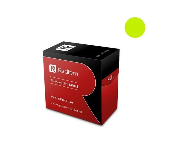 Redfern Self-Adhesive Colour Codes - C10 Flu Yellow / Lime