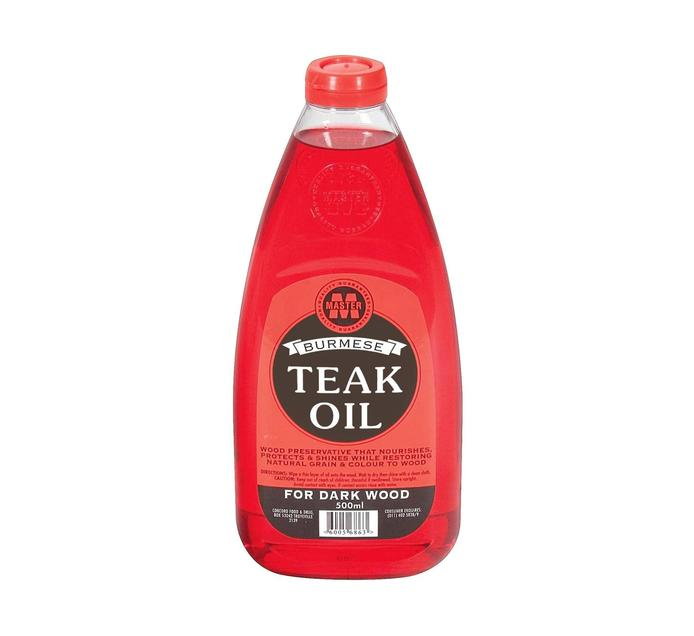 Burmese Teak Oil Red (1 x 500ml)
